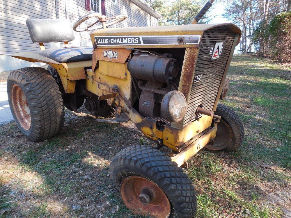 Antique Vintage Allis Chalmers B10 Garden Tractor Allischalmers
