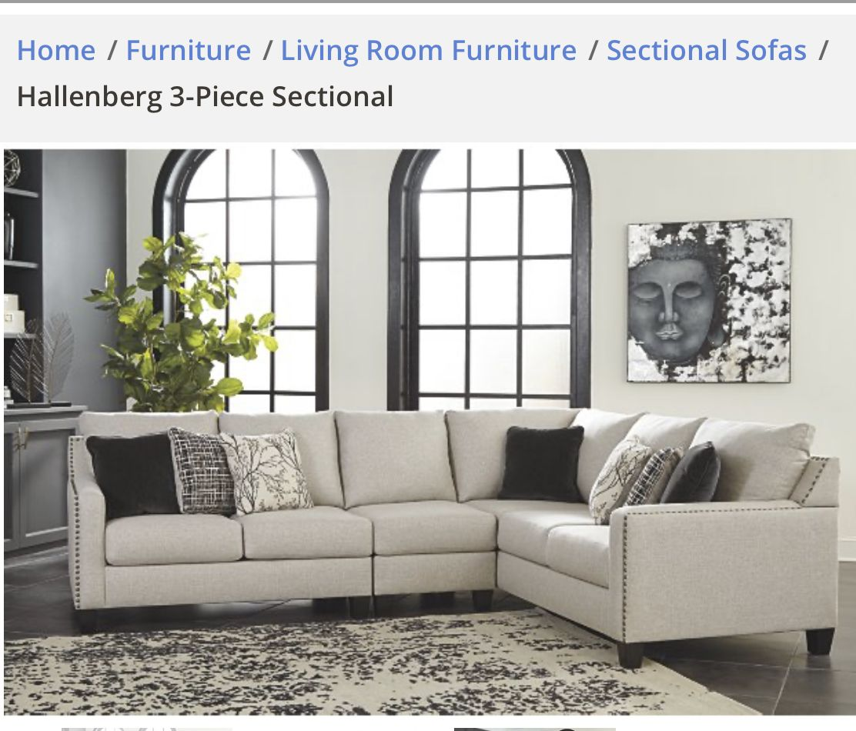 Ashley Furniture Hallenburg In 2020 3 Piece Sectional Ashley Furniture Furniture