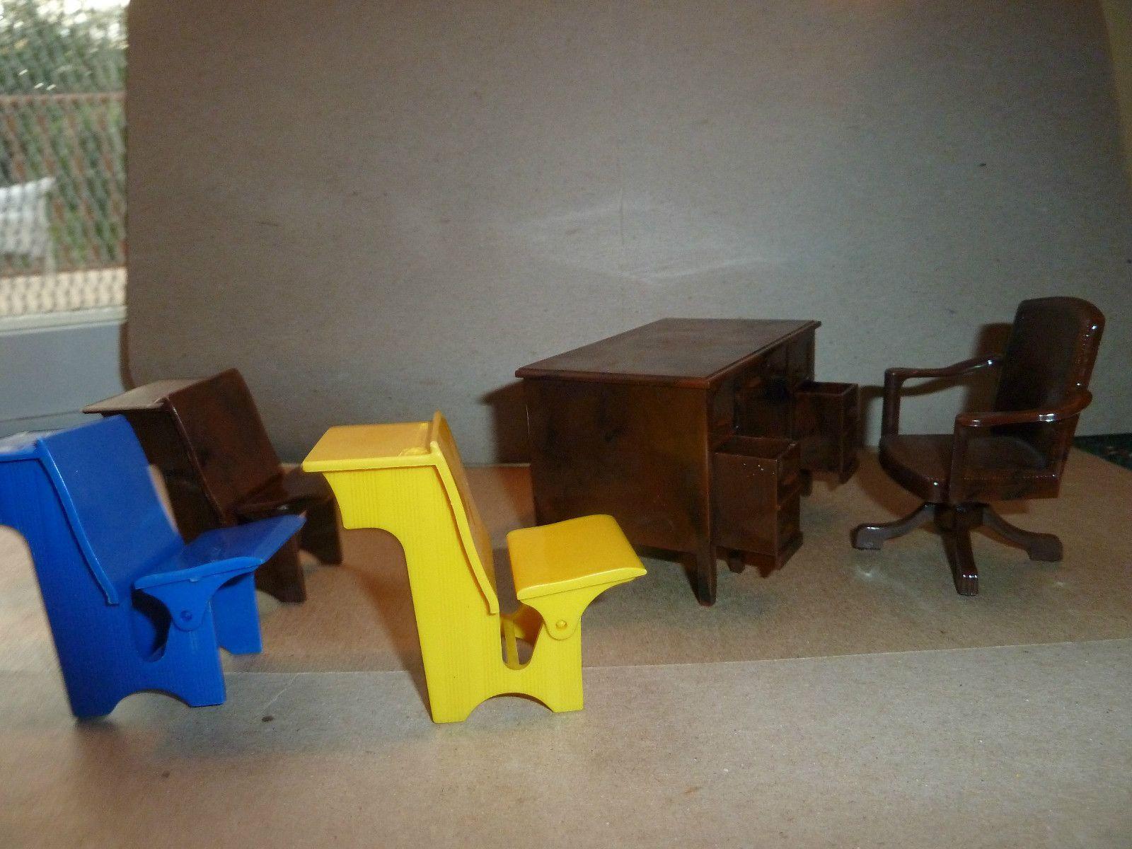 RENWAL SCHOOL HOUSE VINTAGE DOLLHOUSE FURNITURE | eBay