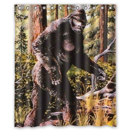 Bigfoot Sasquatch Background Waterproof Shower Curtain Ba Https Www Amazon Com Dp B00yihe77s Ref Cm Sw R Pi Dp X Ti Bigfoot Bigfoot Art Bigfoot Sasquatch