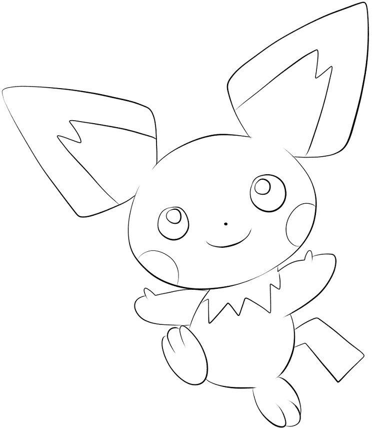 Pokemon Coloring Pages Pichu Pokemon Coloring Pages Pokemon Coloring Cartoon Coloring Pages