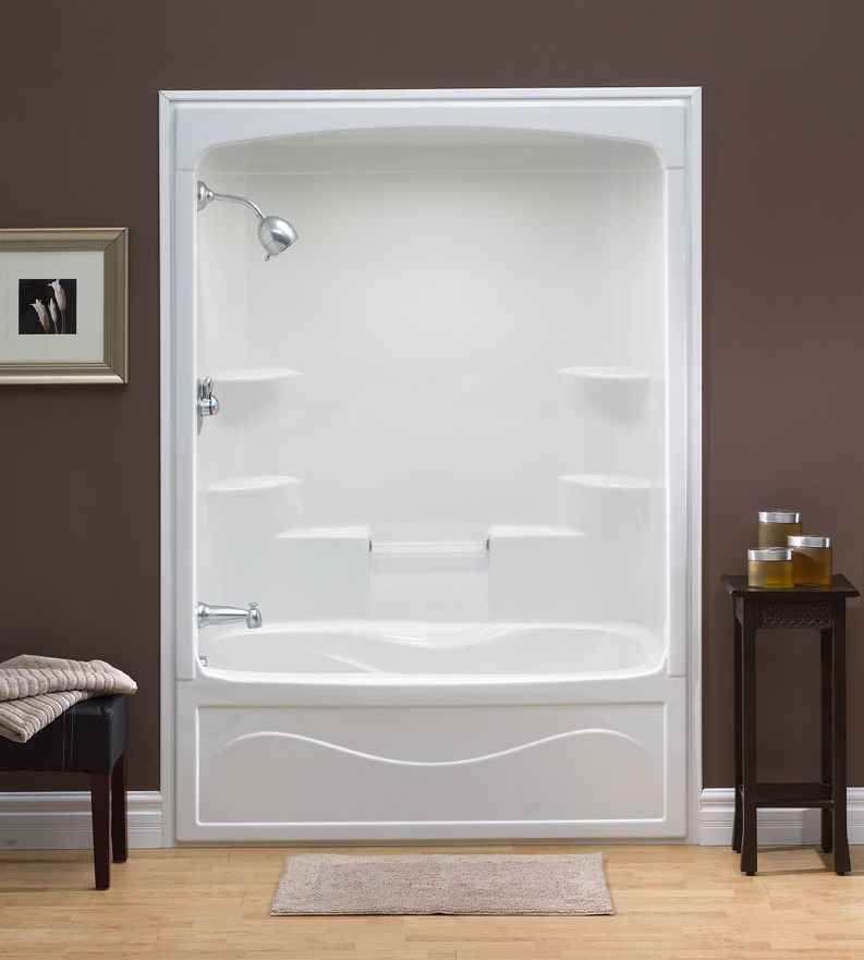 Acrylic One Piece Tub Shower. One piece shower insert  Liberty 60 Inch 1 Acrylic Tub and Shower Whirlpool