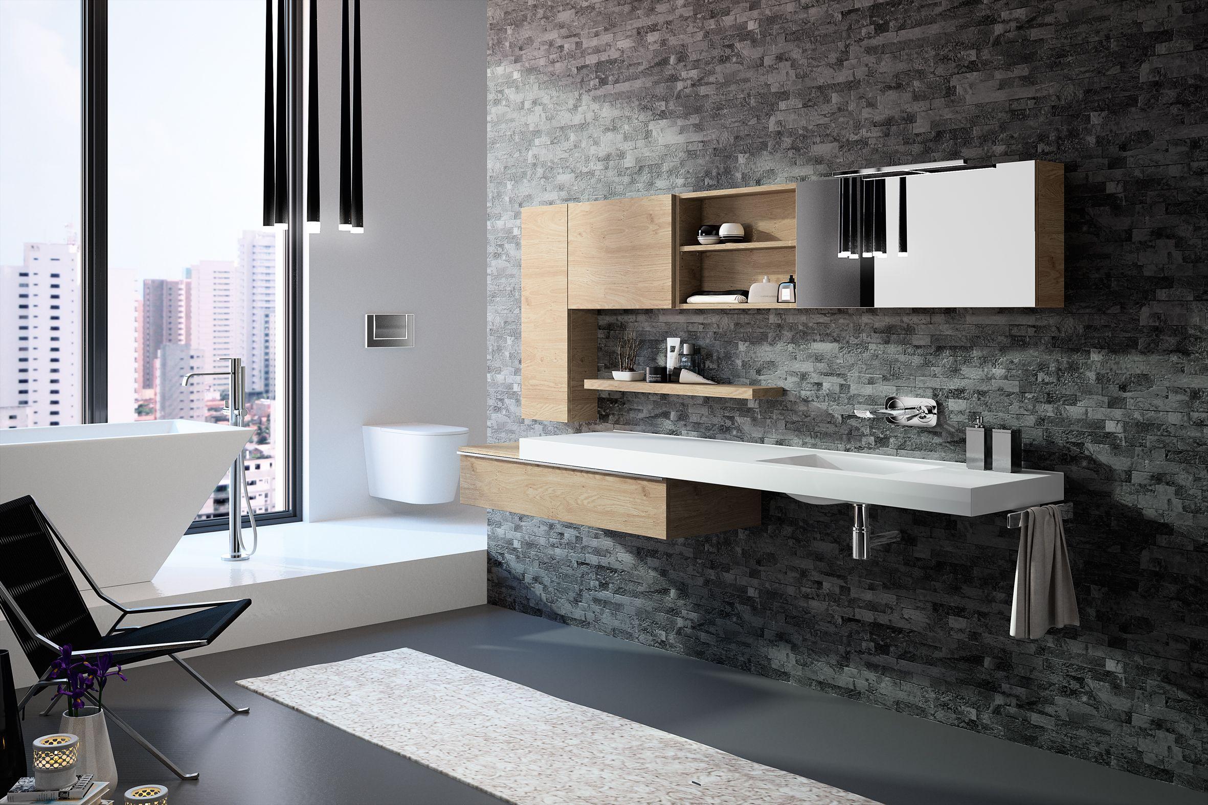 meubles de salle de bain cedam gamme extenso sur mesure
