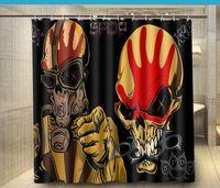 Finger Punch Heavy Metal Hard Rock Bands Custom Fashion Shower