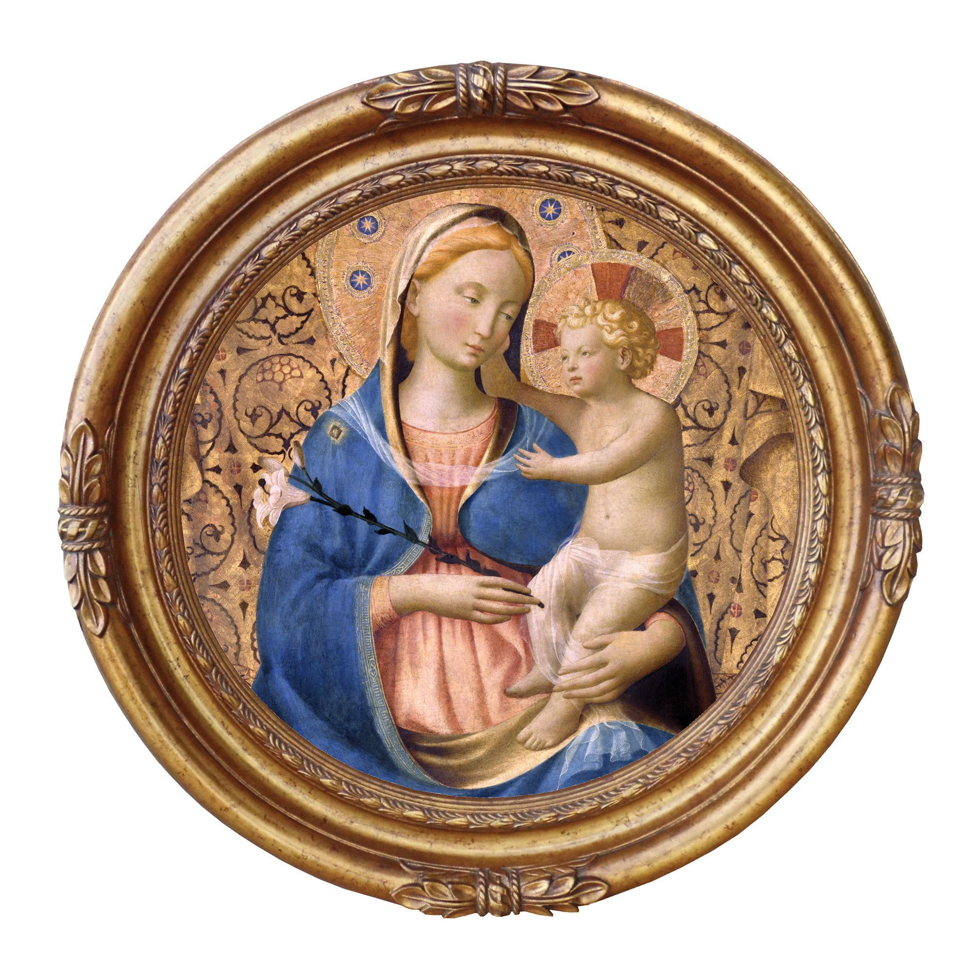 Madonna of Humility, 1440m Framed Original Painting