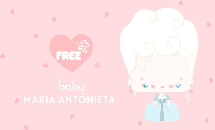 Marie Antoinette Cute Free Printable Poster