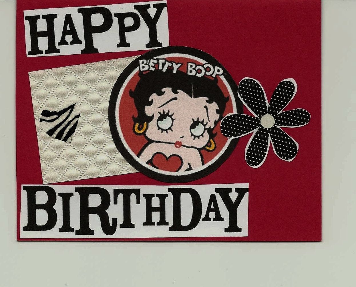 Betty Boop Birthday Card Texture Collage By Greatpaper On