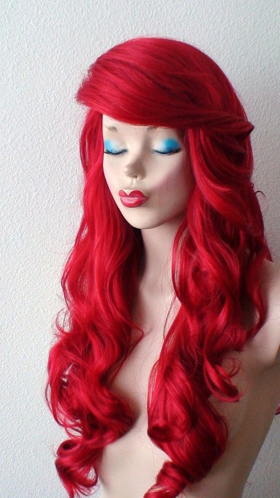 red wig long curly red hair wig durable custom wig by kekeshop