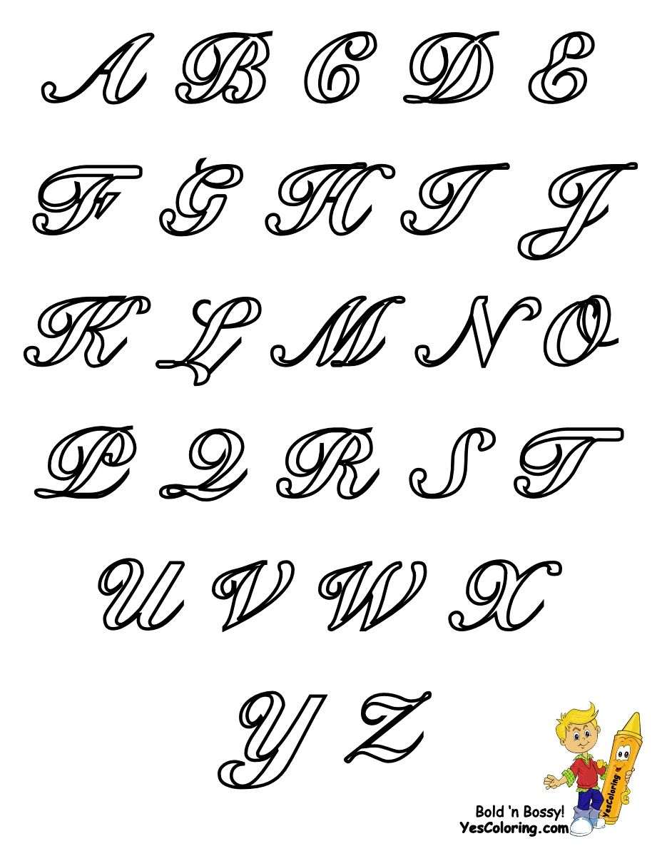 Classic Coloring Pages Alphabet Cursive Letters Free Intended For Cursive Alphabet Coloring Pages Cursive Alphabet Cursive Fonts Alphabet Fancy Cursive Fonts