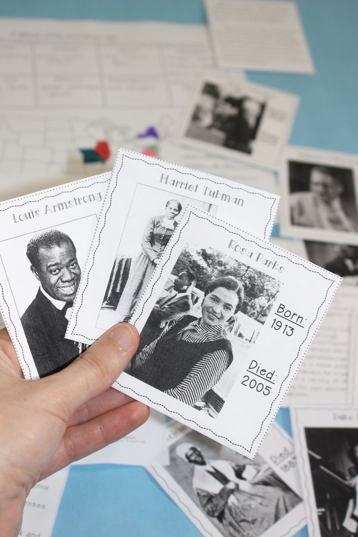 Black History Month Activities Short Biographies for 15