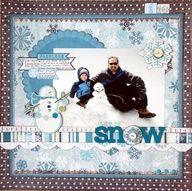 winter scrapbook layouts - Google Search