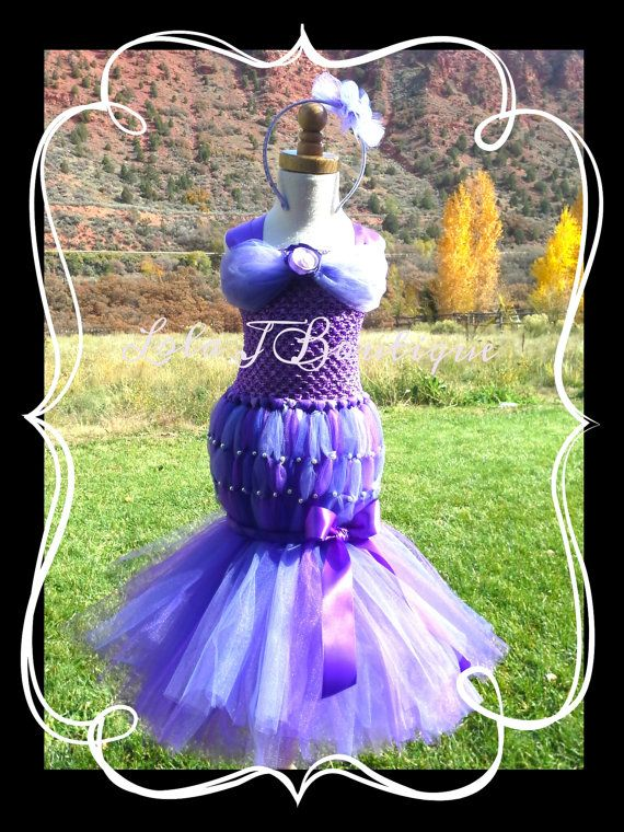 Purple Mermaid Tutu Dress SET  ALL SIZES Toddler by LolaJBoutique, $85.00