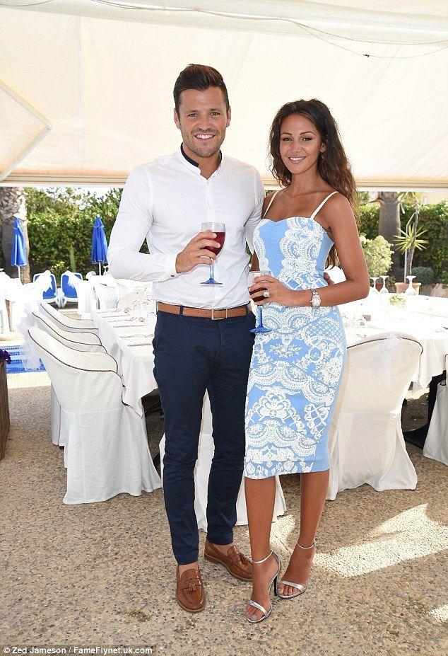 Watch out for the bouquet mark wright attends his cousin for Michelle keegan wedding dress