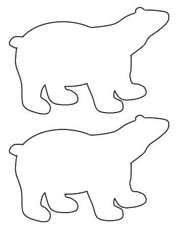 dibujos de osos polares faciles | manualidades | Pinterest | Osos ...