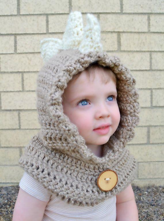 Dinosaur Hat - Dinosaur Hoodie - Dinosaur Cowl - Animal Hat - Hooded ...