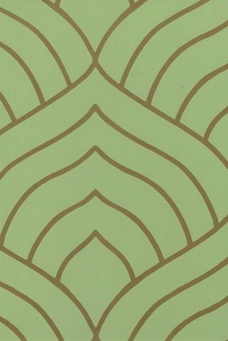 Green + Copper Modern Wallpaper by BurkeDecor Green