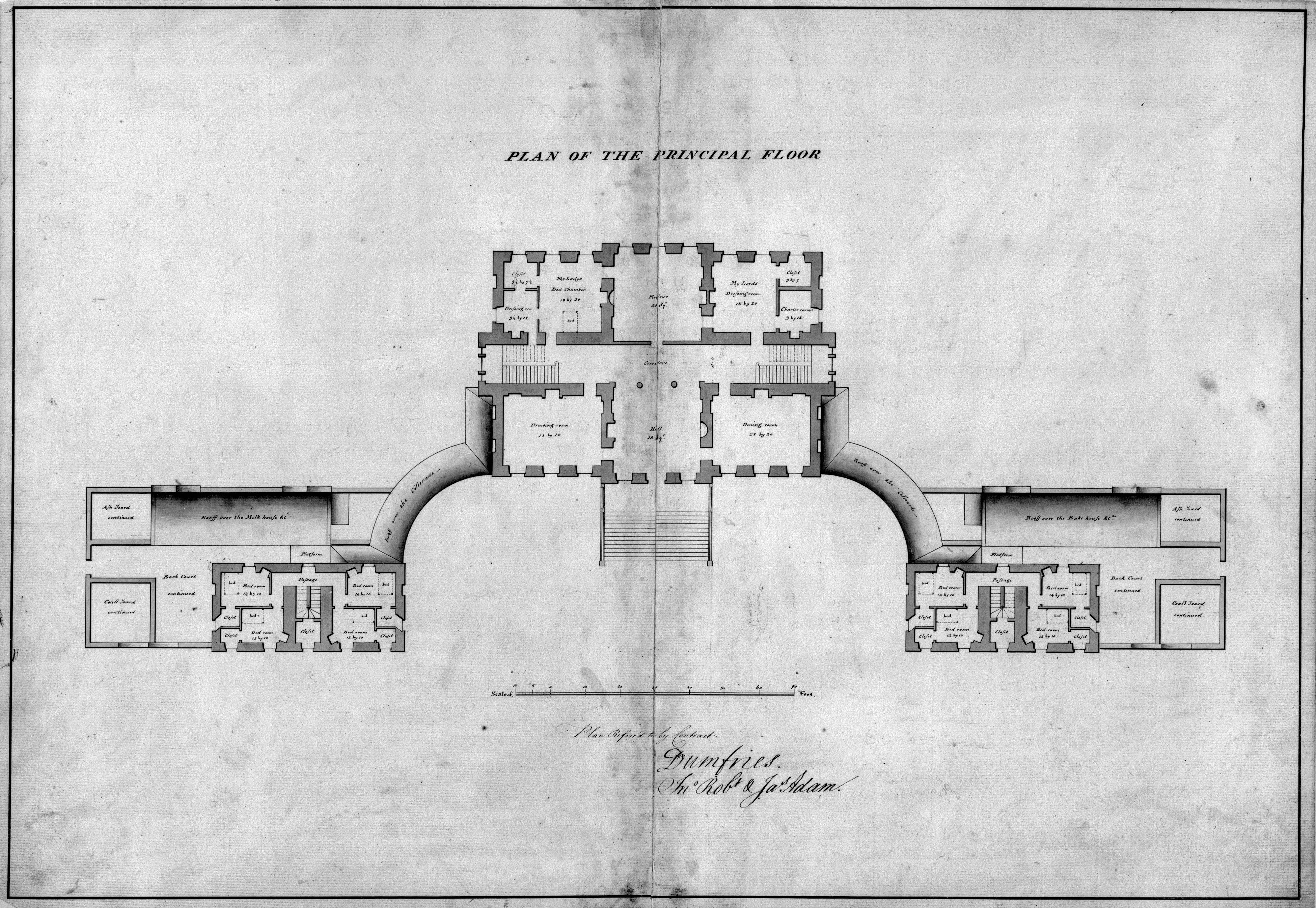 Click To Close Image Click And Drag To Move Castle Floor Plan Dumfries House Historical Architecture