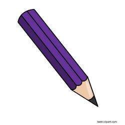 Purple Lead Pencil Free Png Graphic Clip Art Free Clip Art Led Pencils