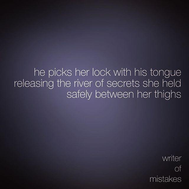 He picks my lock *twinkle*