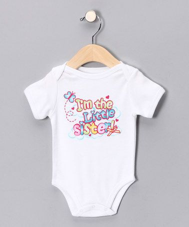 Take a look at this White 'Little Sister' Bodysuit - Infant by Mon Cheri Baby on #zulily today!