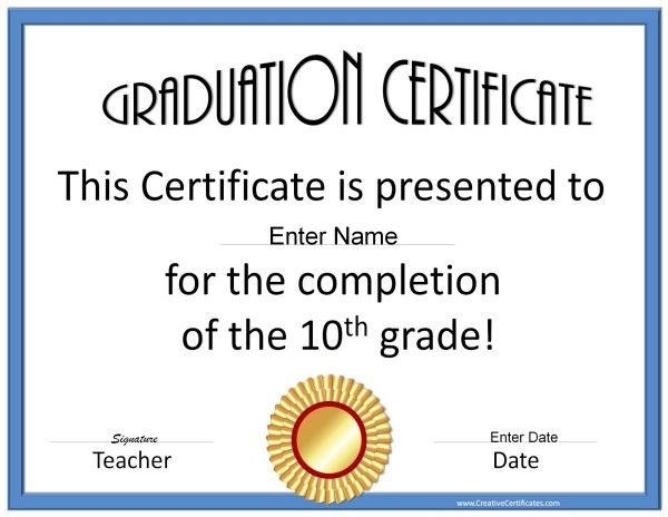 Certificate of Graduation Sunday School Pinterest - school certificate templates