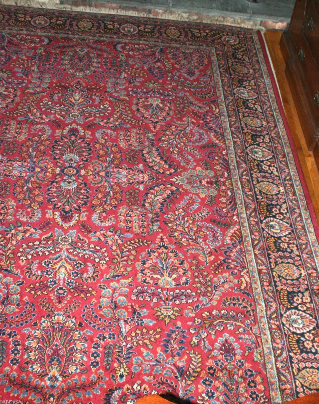 Antique Karastan Sarouk Oriental Wool Rug 9x12