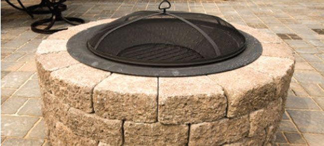 Fire Pit With Patio Blocks Block