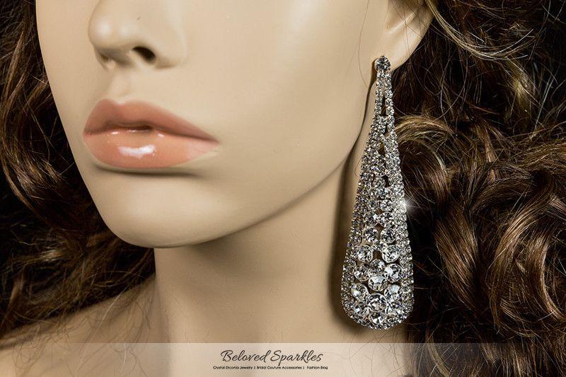 Olivia round cluster statement chandelier earrings crystal olivia round cluster statement chandelier earrings crystal mozeypictures Image collections