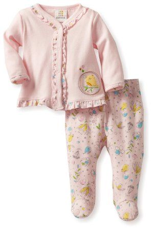 227ed346f4d8 Baby girl clothes Absorba Baby-girls Newborn Print Two Piece Footed ...