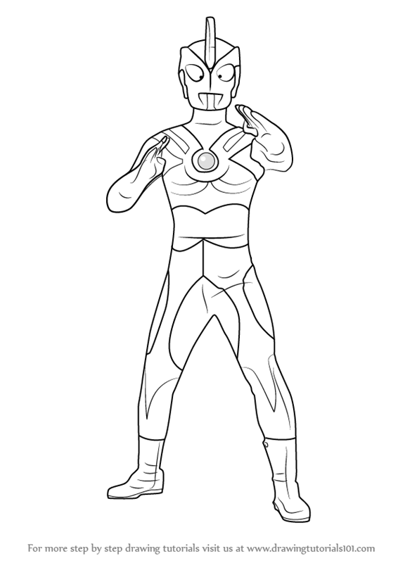 Learn How To Draw Ultraman Ace Ultraman Step By Step Drawing Tutorials Drawings Ace Coloring Pages To Print