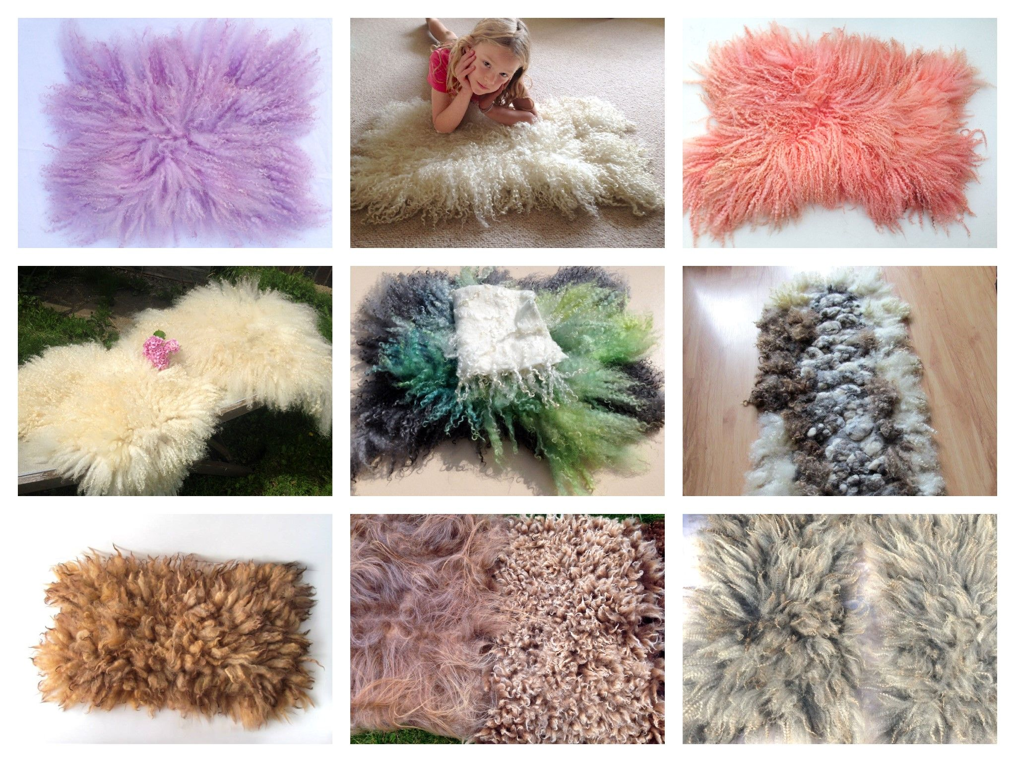 Curly Fluffy Flokati Rugs Felt Fur Hand Felted Rug Mat Blanket By Feltfur Made From 100 Pure Wool By Hand Felting Lovel Flokati Rugs Hand Felted Rugs
