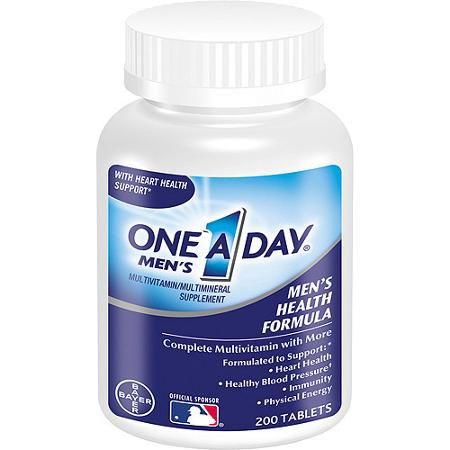 One A Day Multivitamin / Multimineral Supplement Men's Health Formula 200 ct
