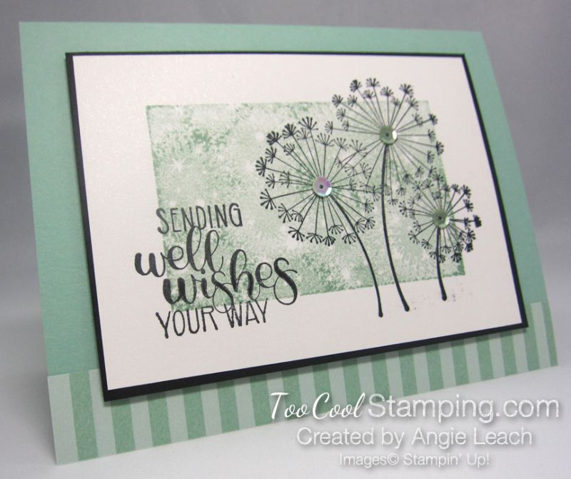 Dandelion Wishes One Layer Mint 1 Dandelion Wish Get Well Cards Paper Cards