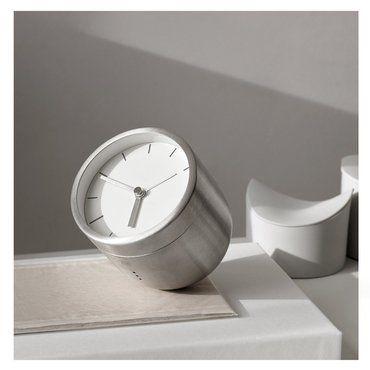 Design Tischuhr norm tumbler wecker stainless steel design tischuhr mit