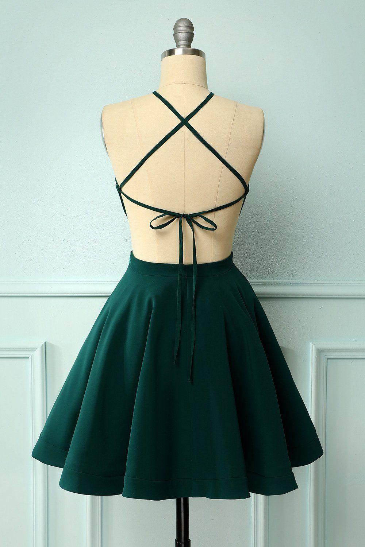 Green halter dress in 2020 dresses