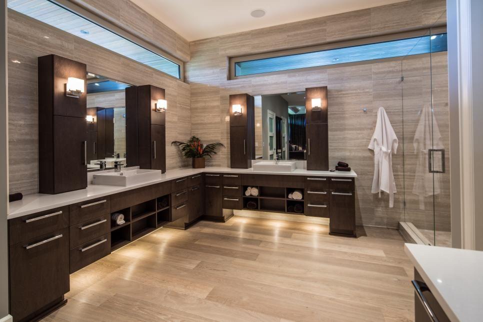Sleek Contemporary Master Bathroom Teresa Ryback