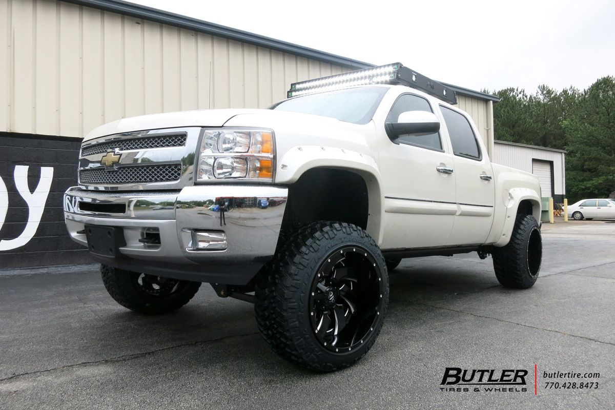 All Chevy chevy 1500 wheels : 6in Lifted Chevy Silverado with 22in Fuel Cleaver Wheels and Nitto ...