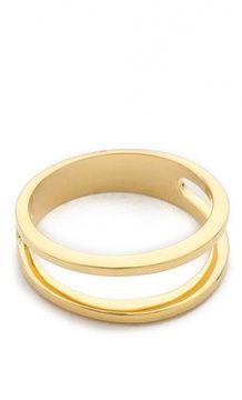 Sarah chloe Geo Parallel Ring on shopstyle.com