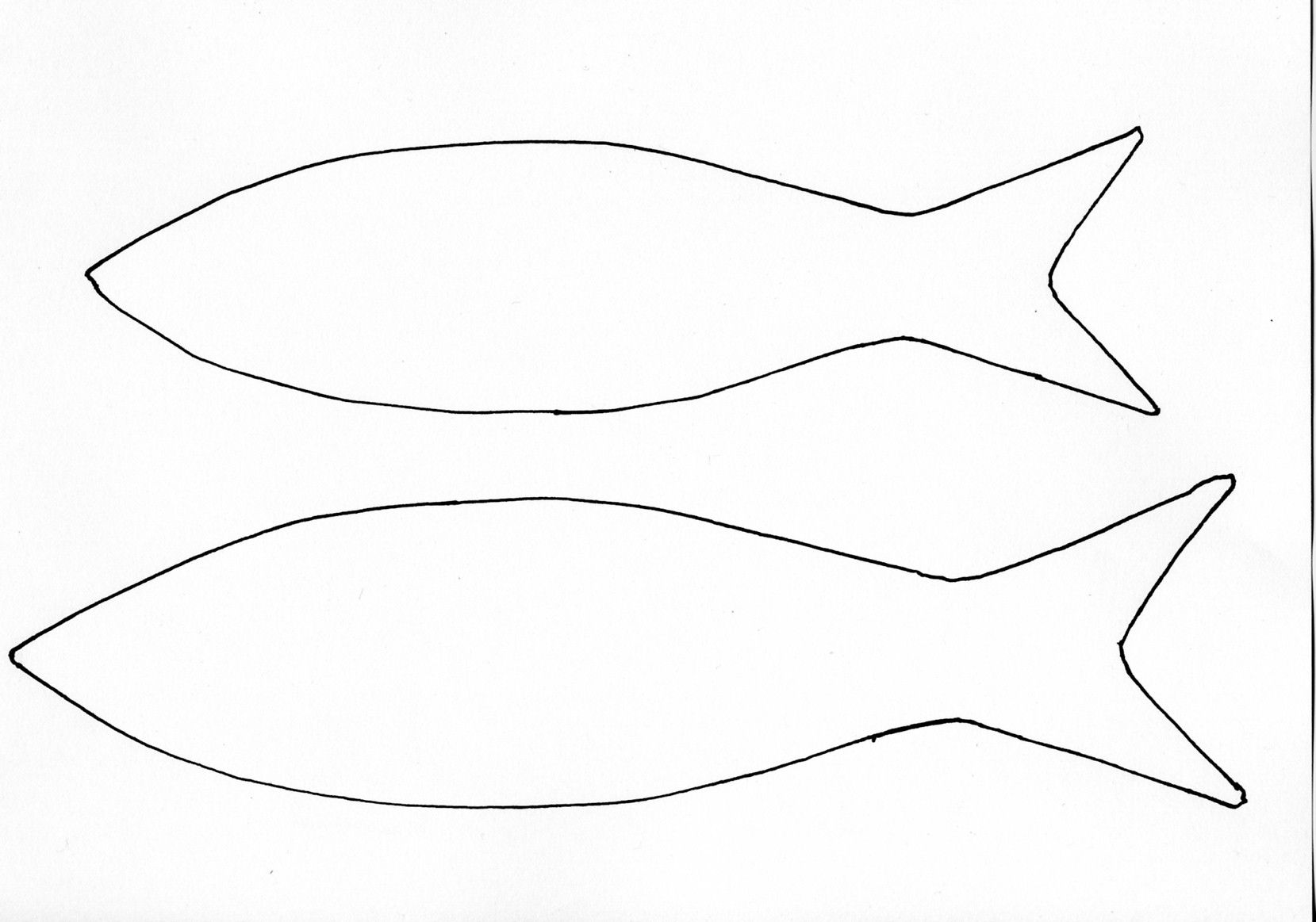 Fish Cutout Template