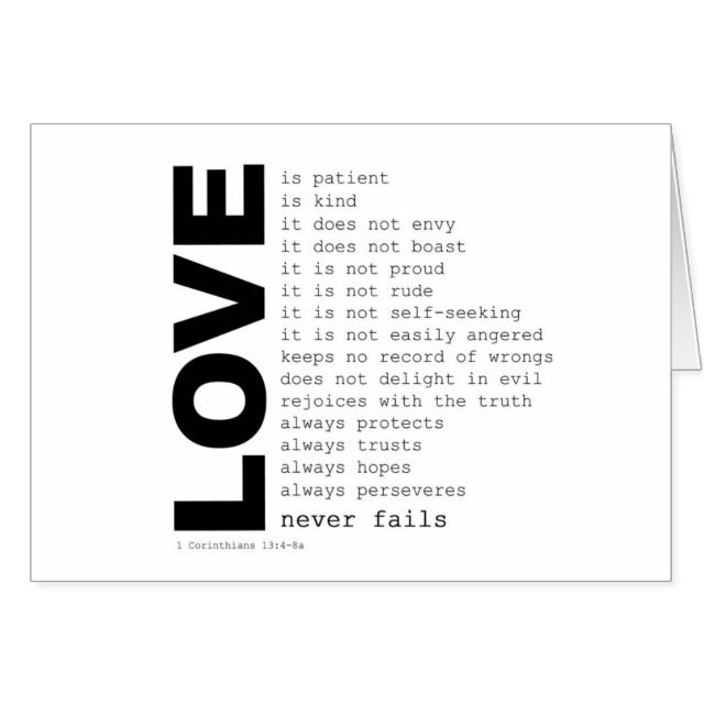 60st Corinthians 60360THE LOVE VERSE Card GREETING CARDSMUCH MORE Adorable Corinthians Love Quotes