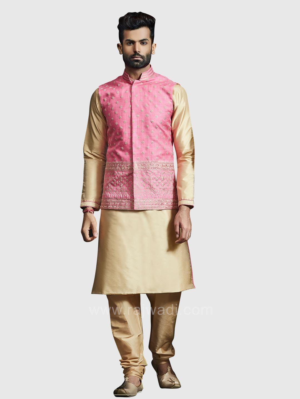 Thread work koti with kurta set rajwadi nehrujackets classic