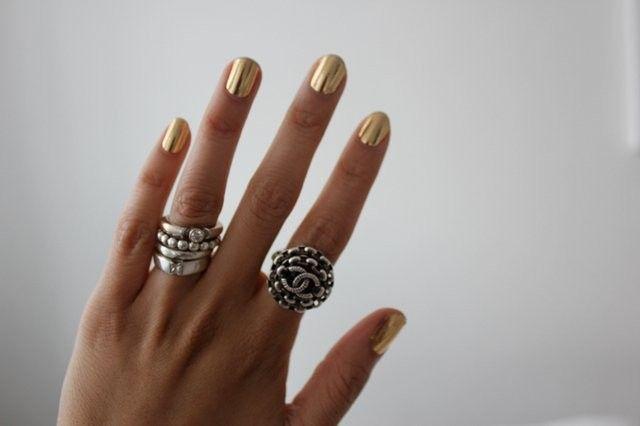 Nail Rock Metallic Designer Nail Wraps Pinterest