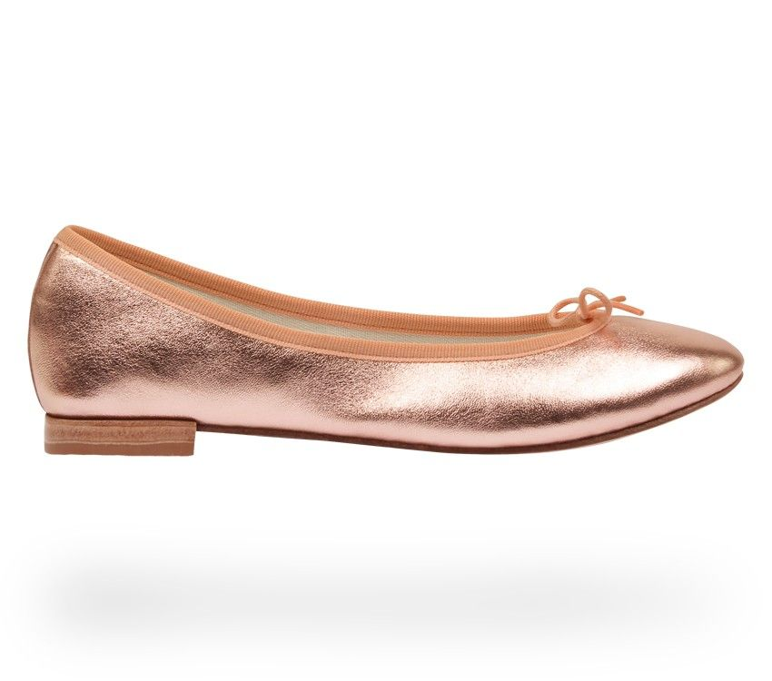 37cf379edfd Ballerina Cendrillon Pink gold Lambskin by Repetto - Collection spring-summer  2015