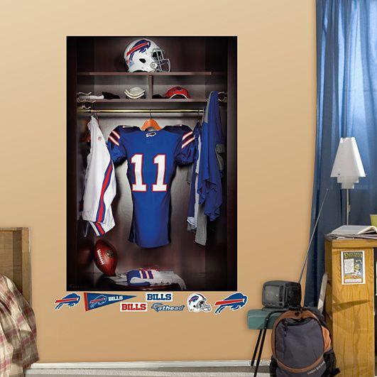 Buffalo Bills Locker Mural Buffalo Bills Bills Football Nfl Buffalo Bills