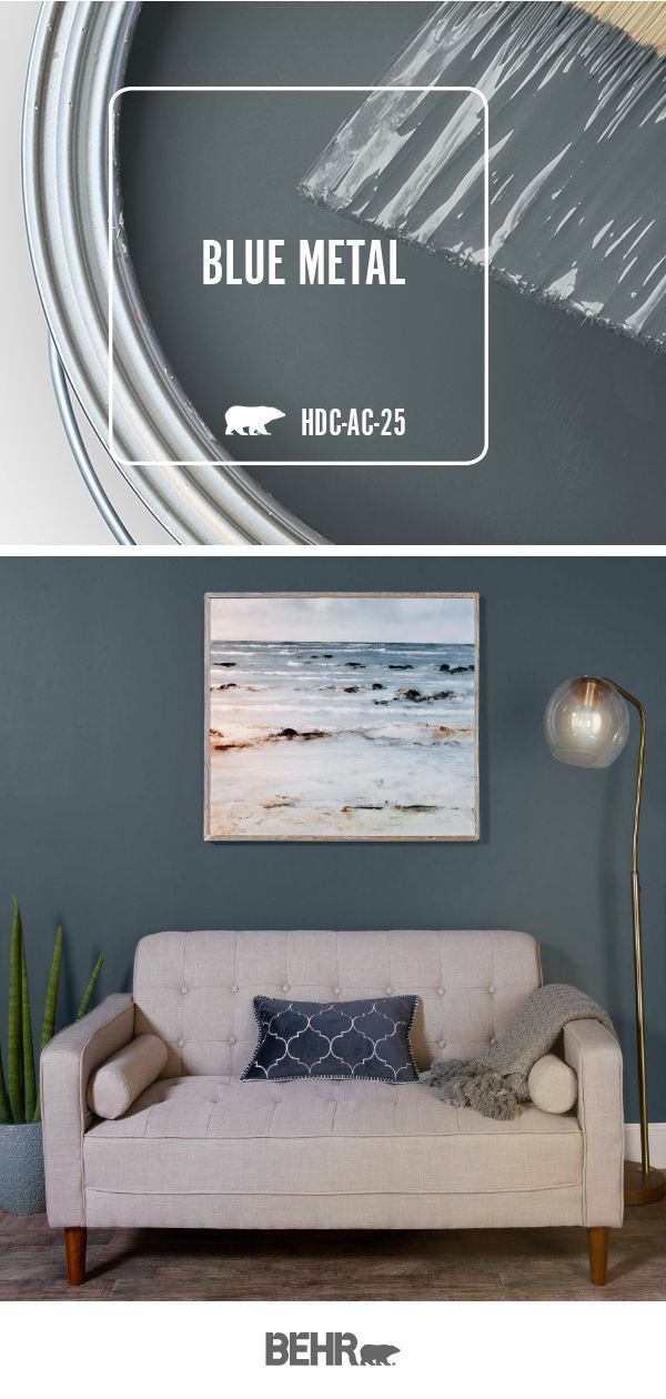 Photo of Looking for a bold and moody wall color for your DIY living room makeover project? Start with a new coat of Behr Paint i… #livingroompaintcolorideas