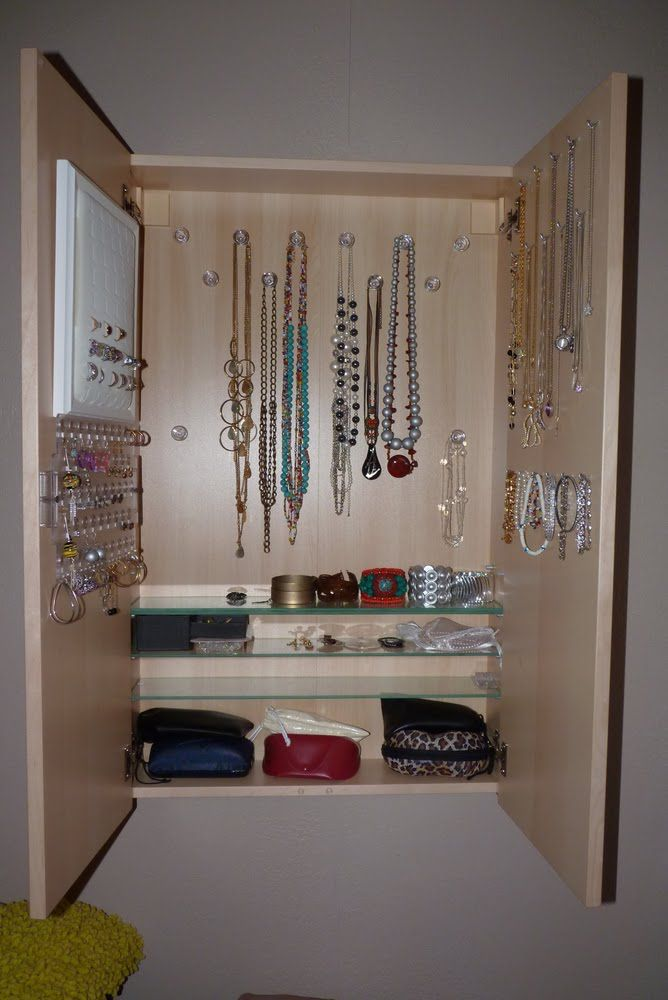 Jewelry Cabinet From Hacked IKEA Godmorgon Cabinet