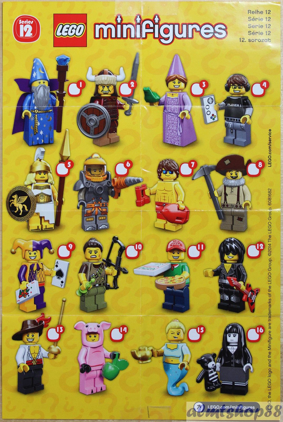 LEGO SERIES MINIFIGURE PAMPHLET INSTRUCTIONS 1 2 3 4 5 6 7 8 9 10 11 12 13 MORE!