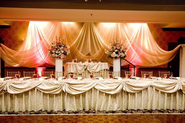 Ideas For Head Table At Wedding wedding head table decoration ideas venue added a vase to our head table to set Beautiful Set Up For A Head Table Bride And Groom On Riser Serpentine Tables