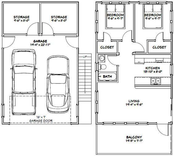 20x32 Tiny House 20x32h7k 808 Sq Ft Excellent Floor Plans