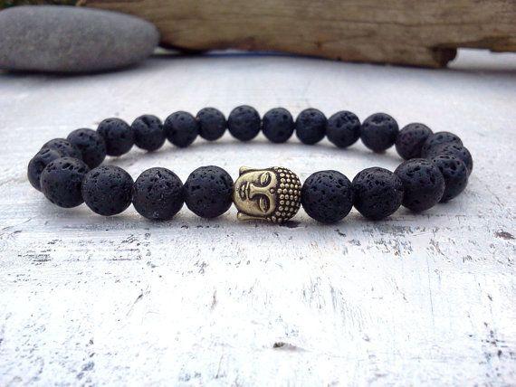 Buddha Bracelet Lava Men Mens By Socutiful